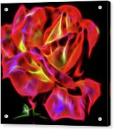 Red And Yellow Rose Fractal Acrylic Print