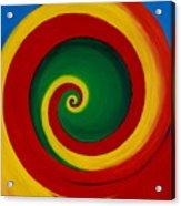 Red And Yellow Swirl Acrylic Print