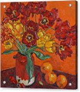 Red And Yellow Tulips And Oranges Acrylic Print