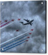 Red Arrows And A400m Airbus Acrylic Print