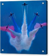 Red Arrows At Airbourne 2010 Acrylic Print