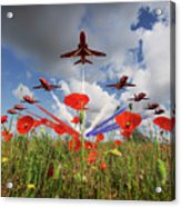 Red Arrows Poppy Fly Past Acrylic Print