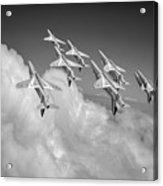 Red Arrows Sky High Bw Version Acrylic Print
