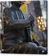 Red Auerbach Chilling At Fanueil Hall Side Acrylic Print