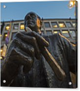 Red Auerbach Chilling At Fanueil Hall Acrylic Print