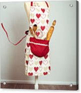 Red Baking Apron Acrylic Print