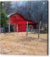 Red Barn A Long The Way Acrylic Print