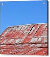 Red Barn And Blue Sky- Fine Art Acrylic Print