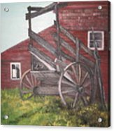 Red Barn And Cattle Ramp Acrylic Print