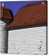 Red Barn Close Up Acrylic Print