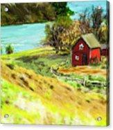 Red Barn Acrylic Print