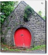 Red Barn Door In Ireland Acrylic Print