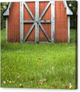 Red Barn Acrylic Print by Dustin K Ryan