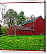 Red Barn In Ohio Acrylic Print