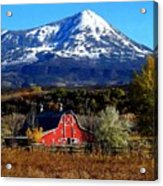 Red Barn In Paonia Colorado Acrylic Print
