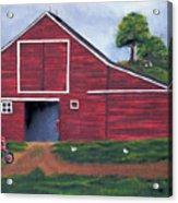 Red Barn In South Dakota Acrylic Print