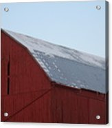 Red Barn On A Brisk Winter Day Acrylic Print