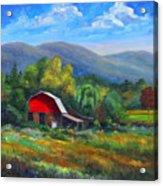 Red Barn On Cane Creek Acrylic Print