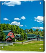 Red Barn On Hoyt Road Acrylic Print