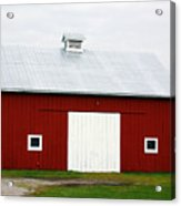 Red Barn- Photography By Linda Woods Acrylic Print