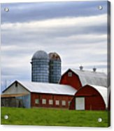 Red Barns Of 3 Acrylic Print