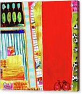 Red Barnyard Acrylic Print