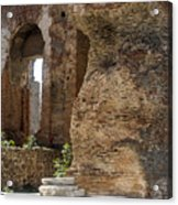 Red Basilica Scene 5 Acrylic Print