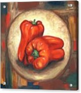 Red Bell Peppers Acrylic Print