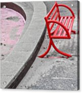 Red Bench Acrylic Print