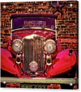 Red Bentley Convertible Acrylic Print