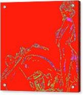 Red Biker Biatch Ps Acrylic Print