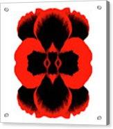 Red Black Botanical Summer Acrylic Print