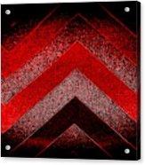 Red Black Chevron Acrylic Print