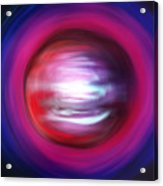 Red-black-white Planet. Twisted Time Acrylic Print