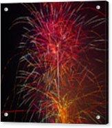 Red Blazing Fireworks Acrylic Print