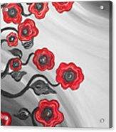 Red Blooms Acrylic Print by Brenda Higginson