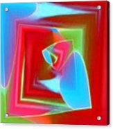 Red Blue Cubed Acrylic Print