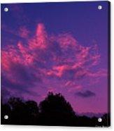 Red Blue Sky Acrylic Print