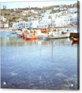 Red Boat Acrylic Print