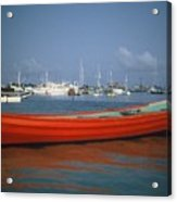 Red Boat Mexico Acrylic Print