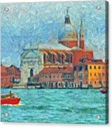 Red Boat Venice Acrylic Print
