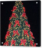 Red Bow Tree Acrylic Print