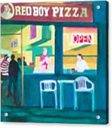 Red Boy Pizza Acrylic Print