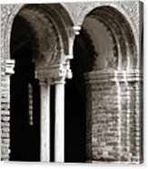 Red Brick Arches Black White Acrylic Print