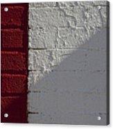 Red Brick White Brick Acrylic Print by Robert Ullmann