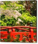 Red Bridge Springtime Acrylic Print