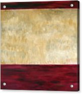 Red Brown And Beige Color Study Acrylic Print