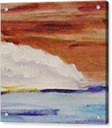 Red Brown Sky Acrylic Print