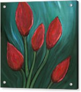 Red Buds Acrylic Print