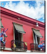 Red Building And Alebrije Acrylic Print